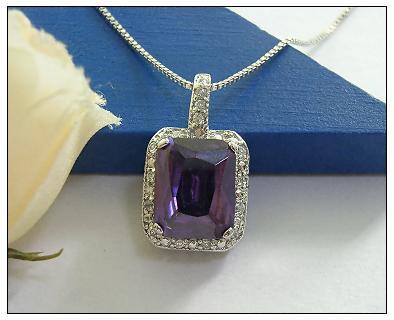 产品编号:p286 产品名称:925银镶晶石吊坠 出厂价